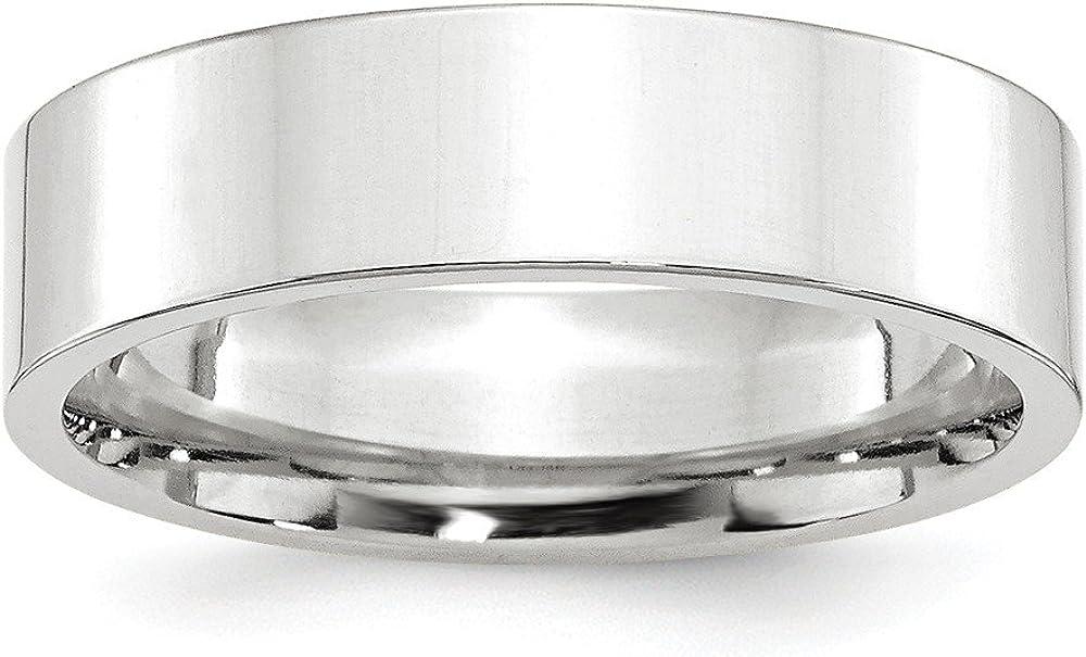 Solid 割引 14k White Gold 6mm Standard おすすめ特集 Fit Wedding Flat Band Comfort