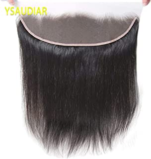 """Lace Frontal Closure Straight Hair 10"""" hair Free Part Ear To Ear 13x4 Inch Unprocessed Brazilian Top Hair Extensions With Baby Hair Nature Color Best Real Human Hair"""