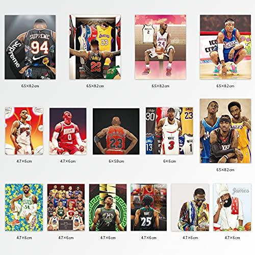 XXCKA 15 NBA Basketball Star Travel Lever Box Laptop Car Scratch Casco Personalidad Etiqueta Impermeable
