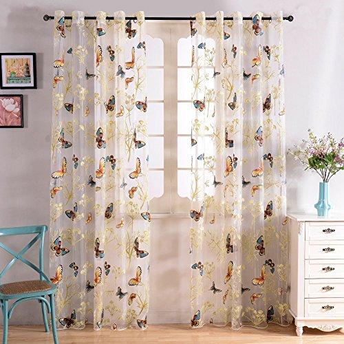cortinas salon floral