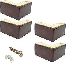 Set van 4 natuurlijke meubelpoten, vervangende bankpoten, grenen fauteuilkastvoeten, bankstoel vervangende poten, voor bed...