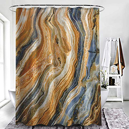 """ZXAWT Brand Waterproof Bathroom Shower Curtains Sand Dune Oil Painting Background Pattern(108"""" W x 72"""" H)"""