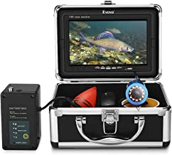 Eyoyo Underwater Fishing Camera Video Fish Finder 7 Inch LCD Monitor HD 1000 TVL Waterproof Camera Adjustable Infrared & White Light for Ice Lake Sea Boat Kayak Fishing 30m(98ft) Cable