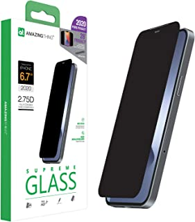 Amazing Thing Privacy Supreme Glass Full cover for iPhone 12 Pro MAX Screen Protector (6.7 inch) Tempered Glass with Dust ...