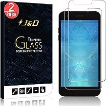 J&D Compatible for 2-Pack LG Aristo 2/Tribute Dynasty/Tribute Empire/Aristo 2 Plus/Phoenix 4/Zone 4/K8 2018/Fortune 2/Rebel 4 Glass Screen Protector, [Tempered Glass] HD Clear Glass Screen Protector