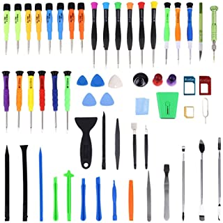 ZHANGYOUDE Phone Parts 60 in 1 Professional Screwdriver Repair Open Tool Kit with SIM Card Adapter Set for Mobile Phones
