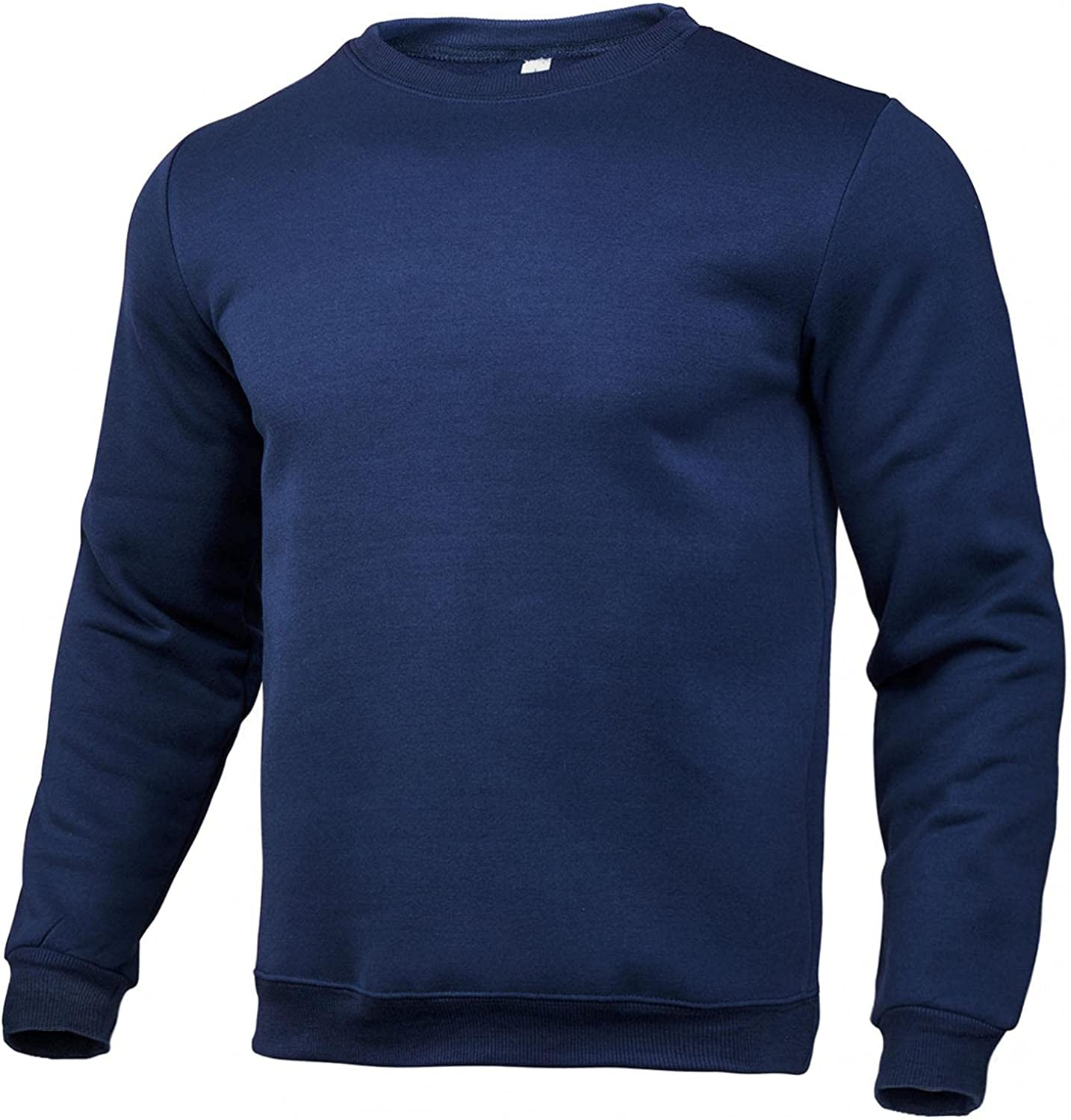 Qsctys Pullover Sweatshirts for Men Design Crewneck Solid Color Black White Lightweight Casual Fall Winter Fashion T-Shirts