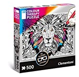 Clementoni- Lion Puzzle 3D, 500 Piezas, Multicolor (35051.3)