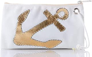 Metallic Anchor Wristlet Recycled Sail Cloth 5