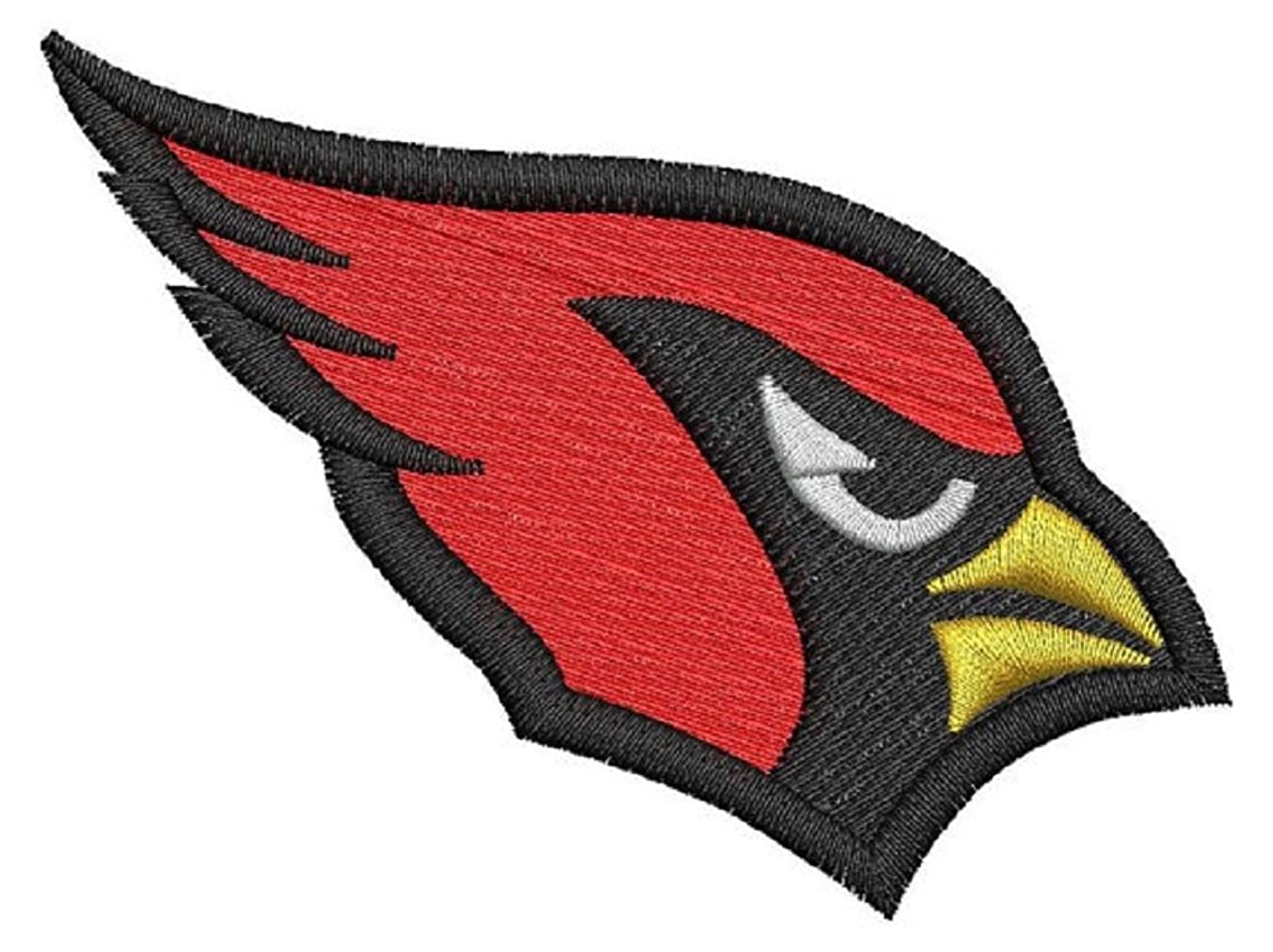 3 pcs cardinal patch embroidered iron on applique sew on (Large, Red)