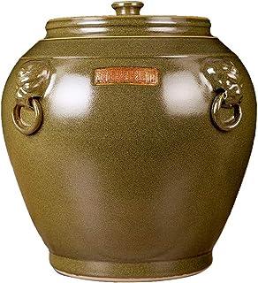 Réservoir de Riz Seau de Riz en céramique résistant à l'humidité Réservoir de Stockage de Riz scellé avec Couvercle Stocka...
