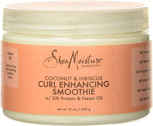 SHEA MOISTURE Coconut and Hibiscus Curl Enhancing Smoothie, 340 g, multi, 12 Ounce (Pack of 1) (290223)