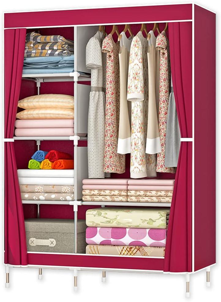 QUMENEY Wardrobe Baltimore Mall Storage Closet Standing Clothes Portable Ranking TOP13 Shelv
