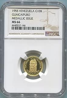 1955 VE Venezuela Gold MS66