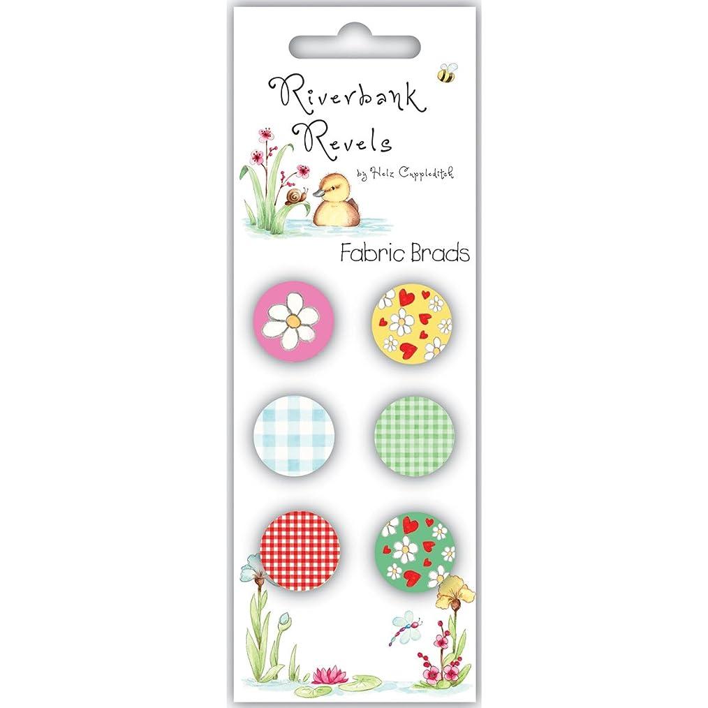 Riverbank Revels Fabric Brads 6/Pkg-