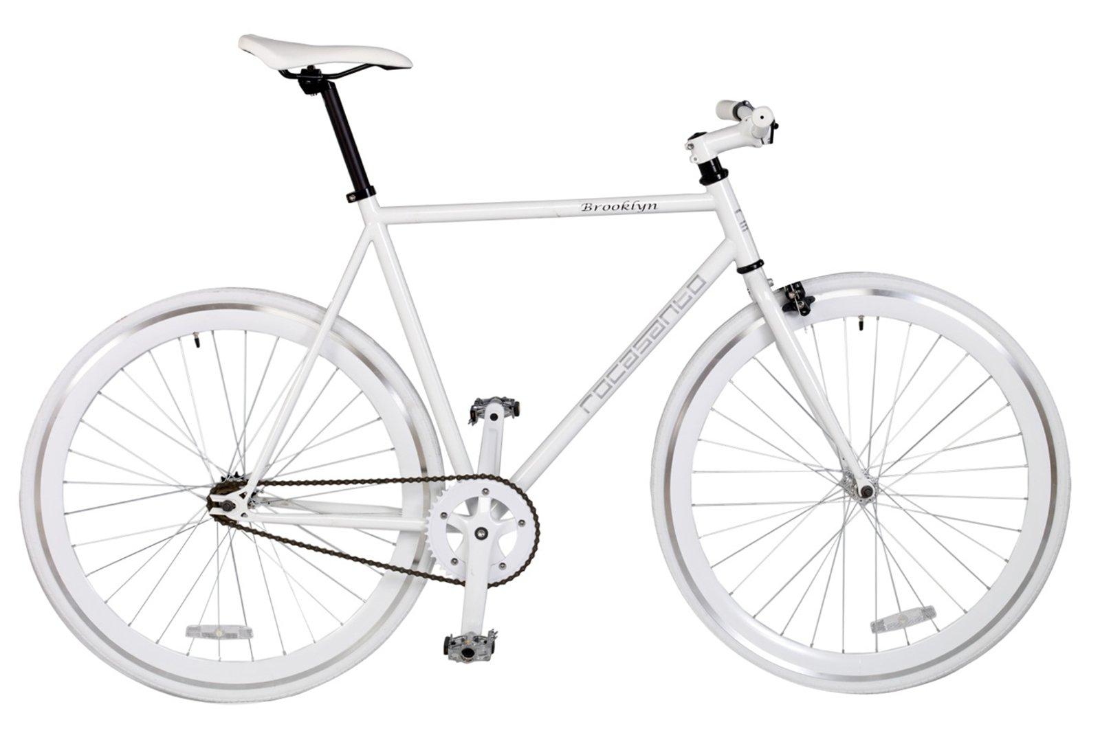Rocasanto Bike - Bicicleta Fixie v, tamaño 54, Color Blanco/Blanco ...