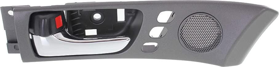 Interior Front Door Handle Compatible with Lexus ES300 2002-2003 / ES330 2004-2006 Left Chrome Lever+Black Housing with Memory Adjust System