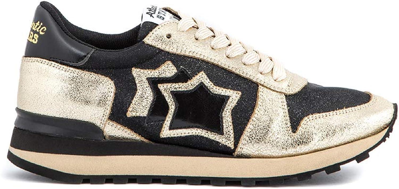 Atlantic Stars Turnschuhe Damen Damen - Alhena Fashion schwarz Sohle Vibram - Schuhe Ginnastisch Farbe Gold und Schwarz  billig und Mode