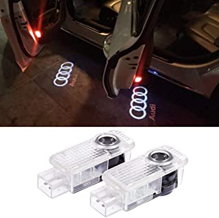 Car Accessories Door Logo Led Projector Lights Ghost Shadow Light Puddle Emblem Welcome Lights For Audi A1 A3 A4 A5 A6 A7 A8 Q3 Q7 R8 TT Auto Part 2 PCS