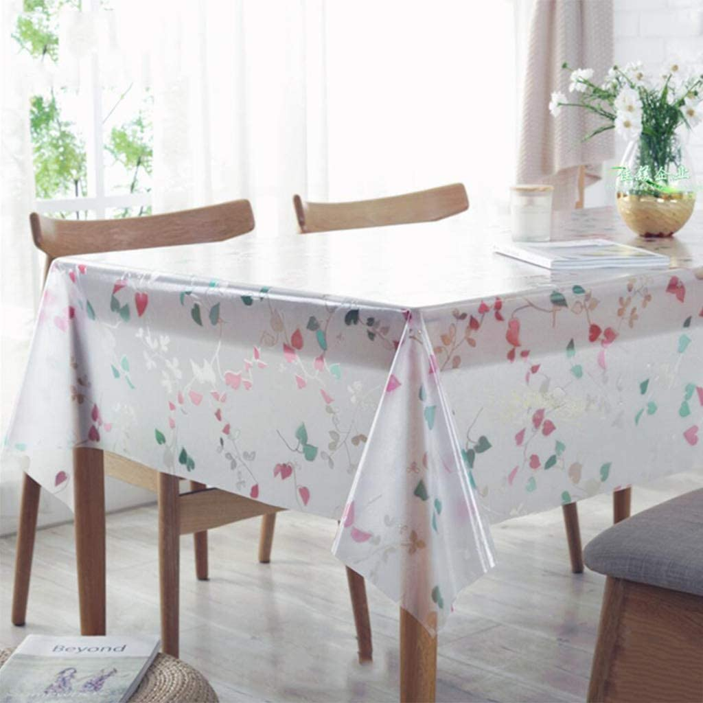 ZZFF Clear Challenge the lowest price Plastic Tablecloth Waterproof Cover Oilproof Re Table free shipping