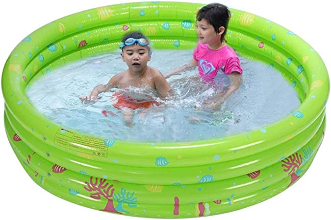 Inflatable Round Swimming Pool Small Paddling Pools For Kids Swimming Pool For Gardens Thickened Kids Inflatable Pool Ball Pit 3 Ring Inflatable Pool Bathtub For Children Boys Girls 1 2 Kids Amazon Co Uk Baby
