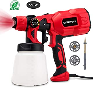 BOZILY Paint Sprayer, Electric HVLP Spray Gun with 3 Adjustable Spray Patterns and Flow Control, Lightweight and Detachable,Easy Spraying and Cleaning,Perfect for Painting Projects