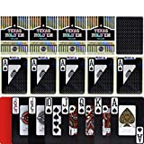 TX GIRL 10pcs / Set Impermeable Juego Negro Tarjetas De Texas Hold'em 2 Esmerilado Lateral Antideslizante Poker Lavable PVC Palabra Grande Blackjack Casino Poker (Color : Black 555)