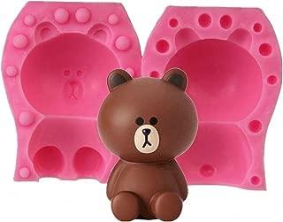 3D Bear Candle Mold - MoldFun Teddy Bear Silicone Mold for Fondant, Cake Decorating, Chocolate, Handmade Soap, Lotion Bar, Bath Bomb, Wax, Crayon, Polymer Clay