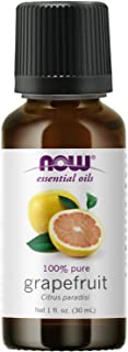 NOW Essential Oils, Grapefruit Oil, Sweet Citrus Aromatherapy Scent, Cold Pressed, 100% Pure, Vegan, Child Resistant Cap, ...