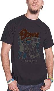 David Bowie デビッド・ボウイ 1972 World Tour 1972ワールドツアー 公式 メンズ ブラック 黒 Tシャツ