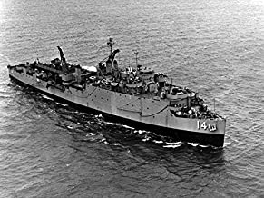 Home Comforts The U.S. Navy Dock Landing Ship USS Rushmore (LSD-14) underway, Probably During The 1950s. Vivid Imagery Laminated Poster Print 24 x 36