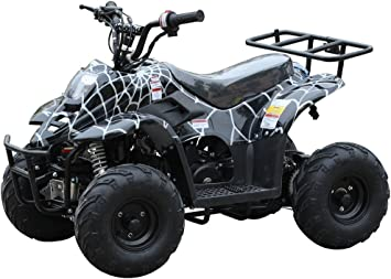 110cc Atv Four Wheelers Fully Automatic 4 Stroke Engine 6 Inch Tires Quads For Kids Spider Black Automotive