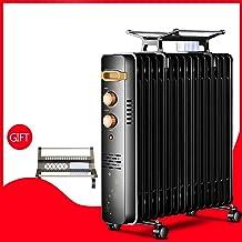 ZDYLM-Y Radiador de Aceite portátil, 2200W Calentador eléctrico de petróleo con la protección contra el sobrecalentamiento, termostato Ajustable,11oilfilled