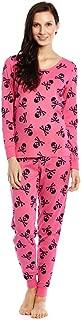 Women's Pajamas Fitted Christmas 2 Piece Pjs Set 100% Cotton Sleep Pants Sleepwear (XSmall-XLarge)