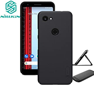 for Google Pixel 3a XL (2019) Case,Nillkin Slim Thin Shield Anti Fingerprints Hard Matte PC Case Back Cover with Kickstand for Google Pixel 3a XL(Black)