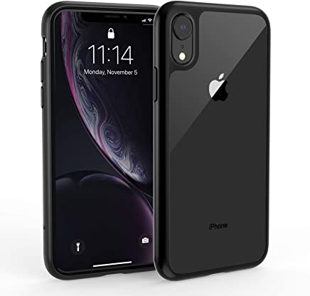 Syncwire Silicone Case Compatible with iPhone XR, UltraRock Protective Case with Advanced Fall Protection and Air Cushion Safeguard Technology Phone Case for iPhone XR Black Trim