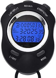 Referé stoppklocka, stoppur multifunktion digital sport timer med ljus, tre rader löptimer för tränare fitness match (färg...