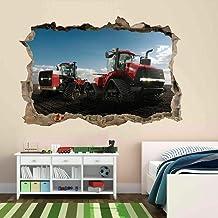 Tatuaje de pared en 92D Tractor agujero de la pared Sticker Pegatina Adhesivo Calcomanía Decoración para dormitorio o la s...