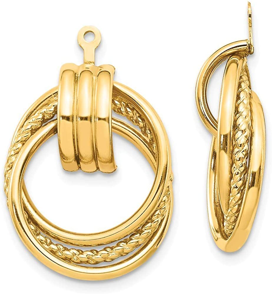 Roy Rose Jewelry 14K Yellow Earring Polished Gold Fancy OFFicial Jackets Bargain