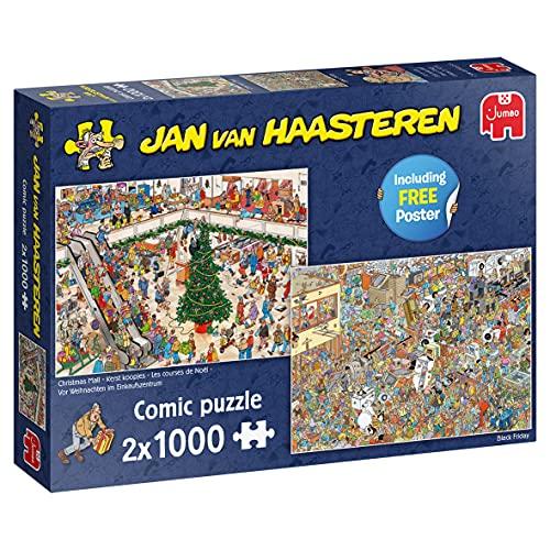 Jumbo 20033 Jan Van Haasteren-Weihnachtseinkäufe-2x 1000 Teile Zubehör, Mehrfarben
