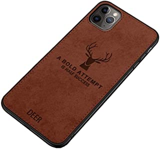 Fabric Cover For iPhone 11 Pro From Deer - Brown