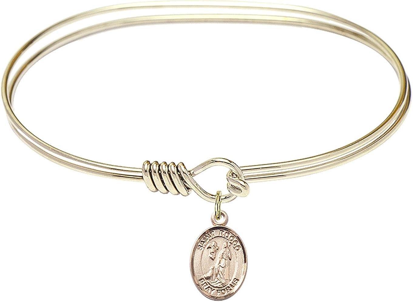 DiamondJewelryNY Eye Hook Cheap mail order sales Bangle Bracelet with Rocco Max 88% OFF a St. Charm