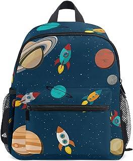 Mochila escolar para niños y niñas con diseño de estrellas de cohete