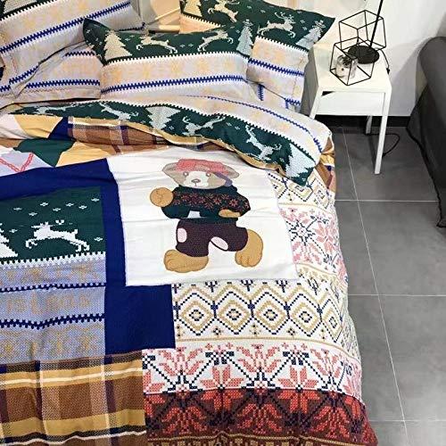 yaonuli katoenen linten vierdelige dekbedden bedtijd standaard 1,5 m standaard 1,8 m bed