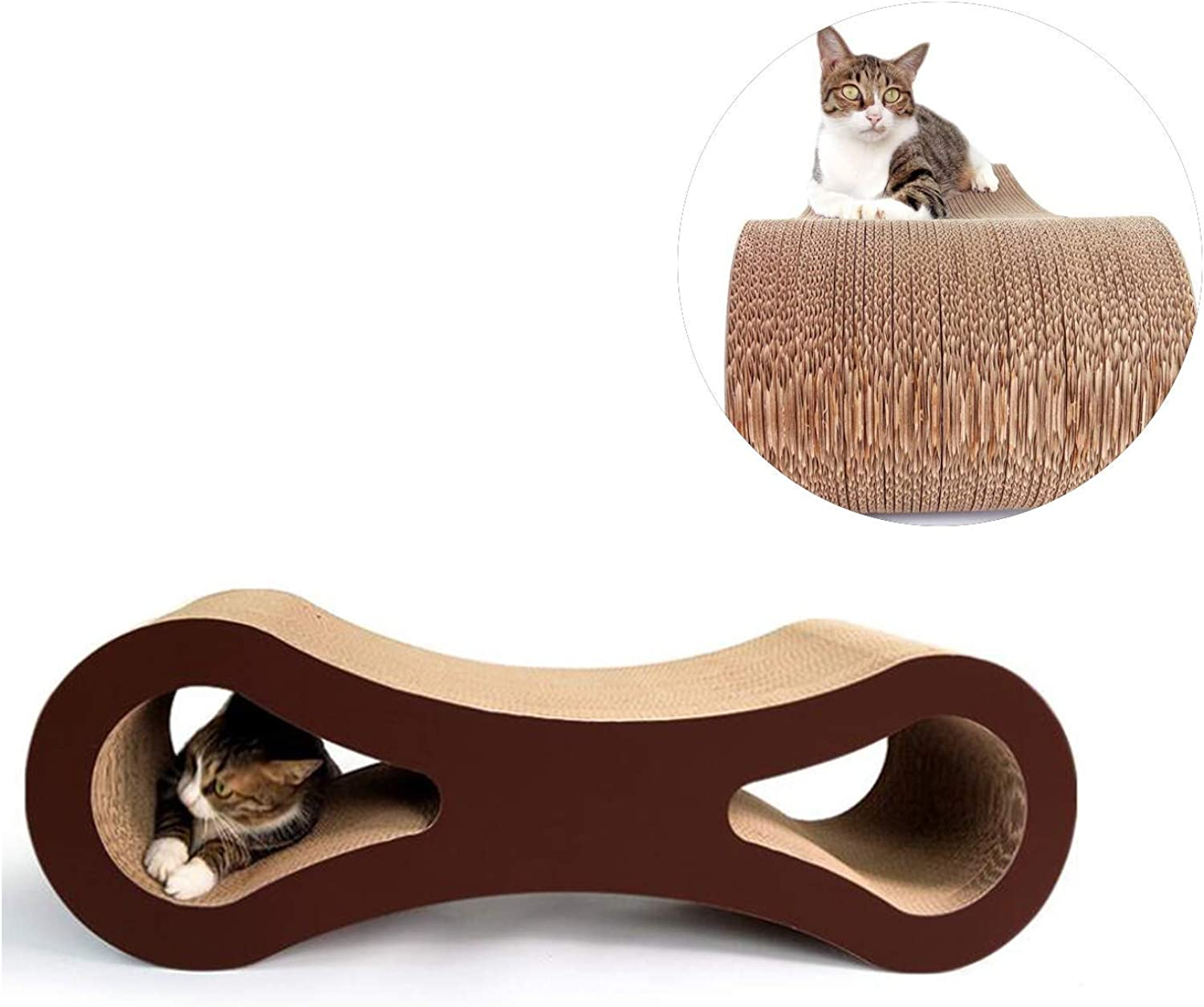 Pet Scratch Board Cat Scratch Pad Toy Durable Corrugated Cardboard Pet Rest Sleep Combo Toy 37.02  10.47in