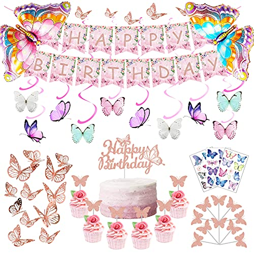 Butterfly Party Decorations Butterfly Birthday Decorations...