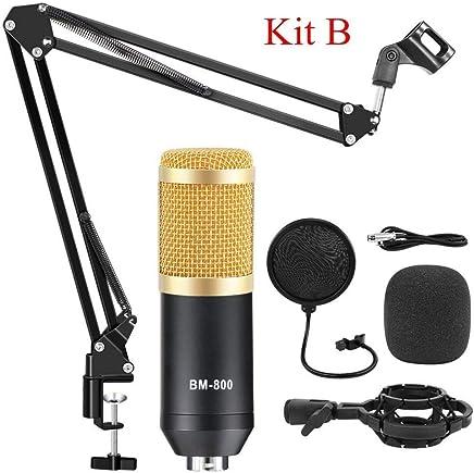 NanYin BM 800 Studio Microfono per Microfono da Karaoke Computer, Kit Microfono Professionale a condensatore con Asta microfonica Studio Mikrofon (Color : Gold Kits B) - Trova i prezzi più bassi