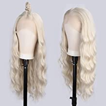 Vigorous Blonde Lace Front Wig Synthetic Long Wavy Wigs for Women Pre Plucked Free Part Heat Resistant Realistic Synthetic Lace Front Wigs 26 Inch