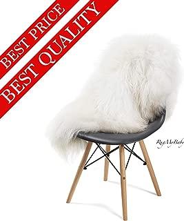 Icelandic Genuine Sheepskin Rug White or Grey (White) Long Fur up to 8