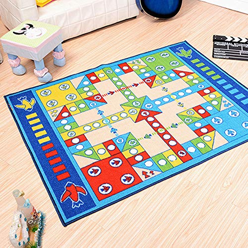 TANGY gebied tapijt, wasbaar spel puzzel kruipen wasbare Ludo Mat voor woonkamer/slaapkamer 100X130cm